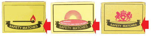 The Lion Safety Match Ribbon Device is a registered trademark